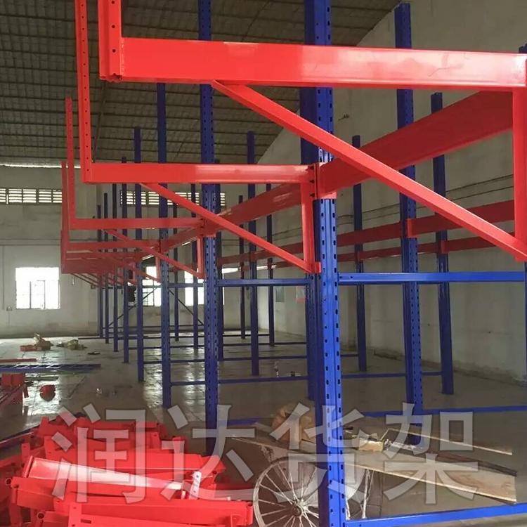 ·润达货架介绍悬壁架使用方式