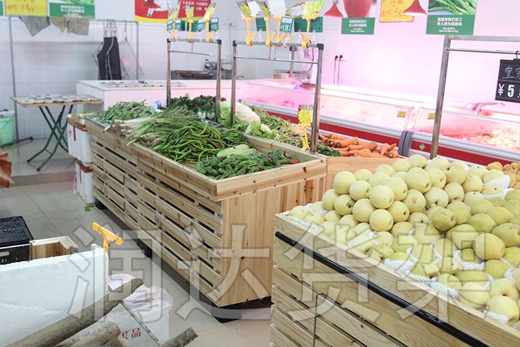 RD-单层木质蔬菜架,水果架