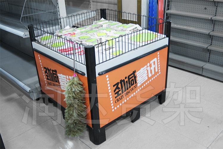 RD-重型带栏网促销台/橙色款