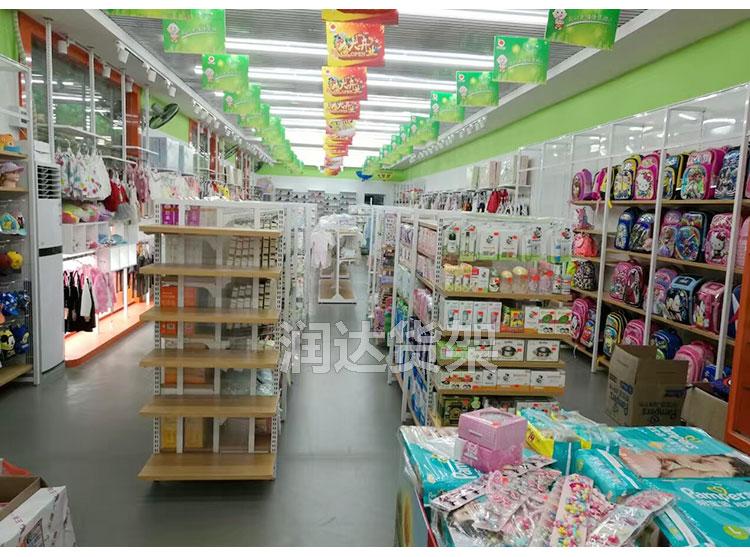 广州便利店货架厂家 铁木结合货架