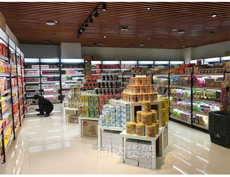 广州便利店货架 铁木结合货架