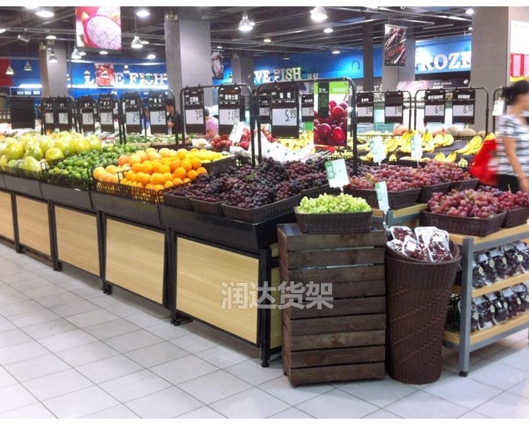 便利店生鲜木质果蔬架