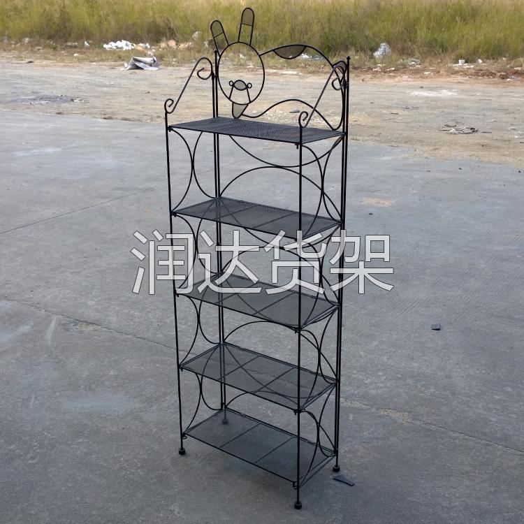 精品展架-展示架:铁艺网格架安装完成