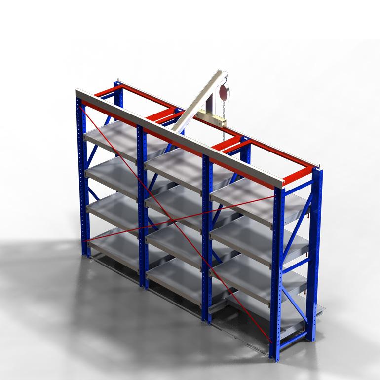 货架知识:解析抽拉式货架结构设计特点