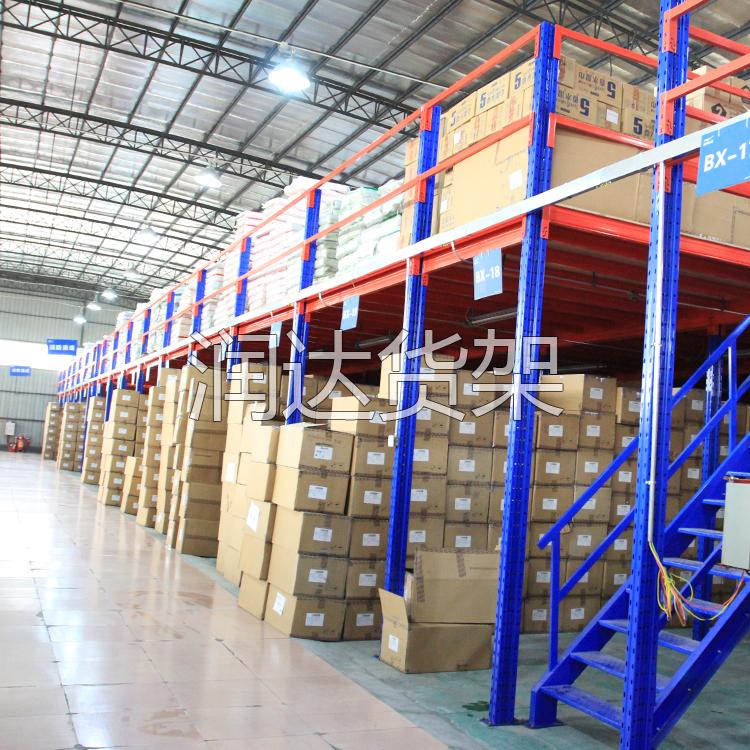 钢制平台货架提高你的仓库的工作效率 广州仓储阁楼货架