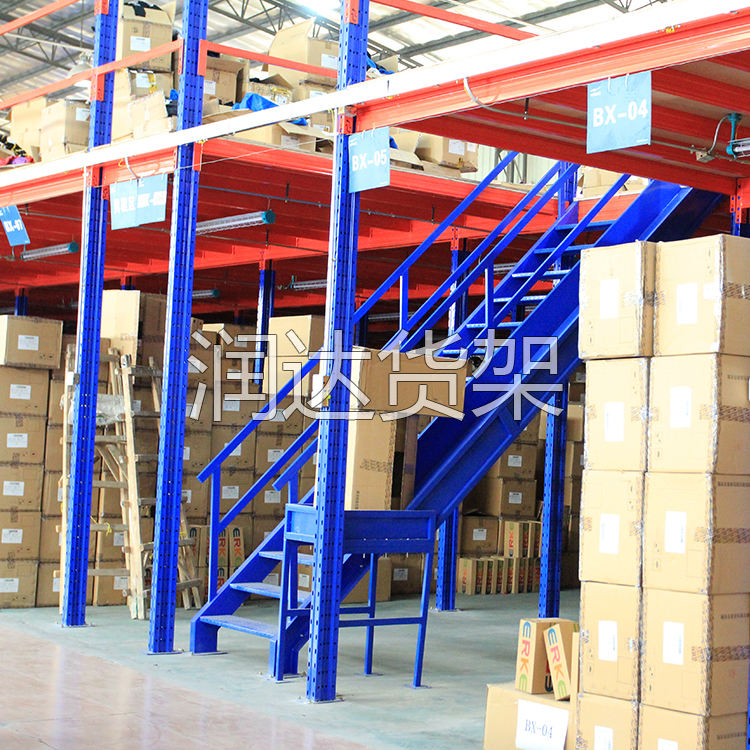 仓库阁楼平台式货架,广州家具厂专用货架,整洁明了