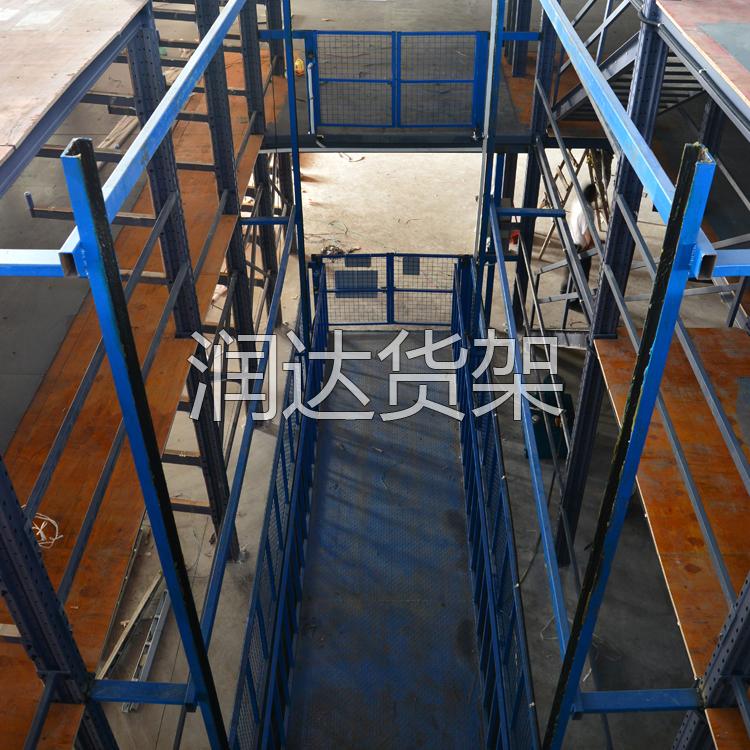 广州智能仓库悬臂阁楼组合货架案例展示
