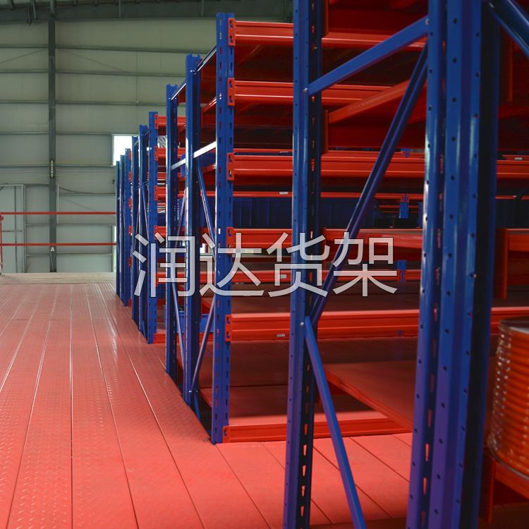 广州黄埔五金厂小型阁楼式货架,润达为你带来高存储量