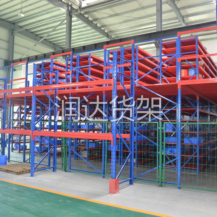 中型仓储货架阁楼楼面承重能力有多少呢?润达货架厂