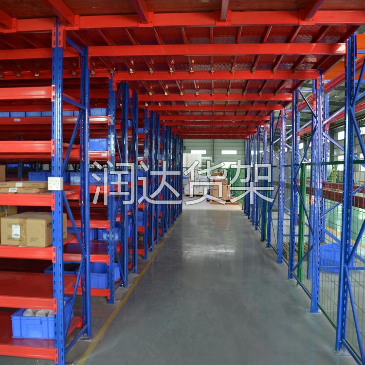 广州家具厂平台钢格栅二层货架,家具厂都钟爱的一款货架!