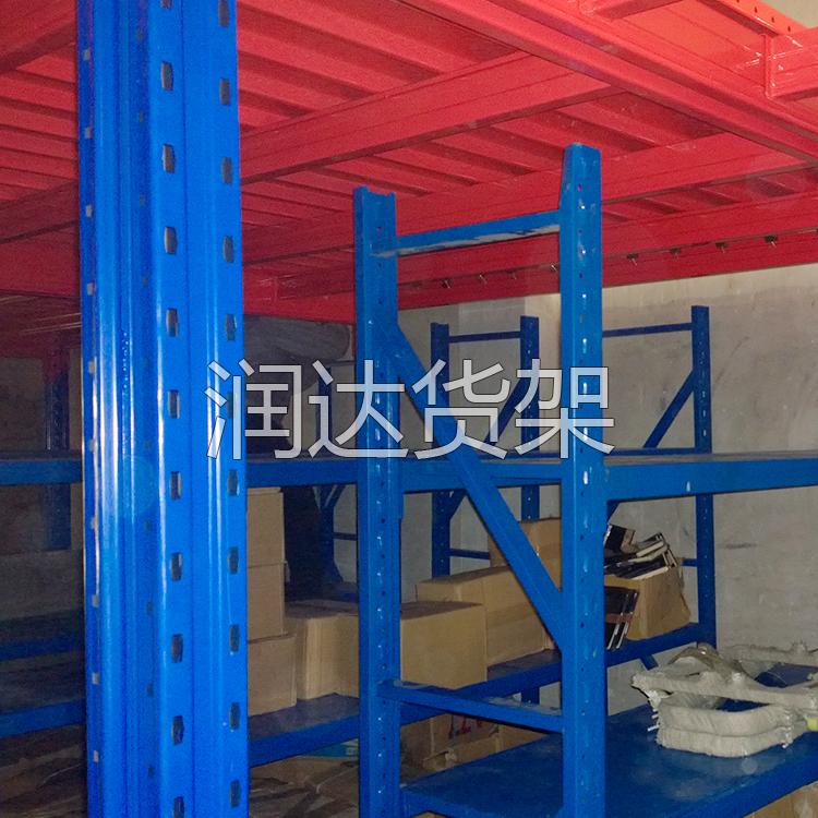 立柱式货架阁楼结构组成和应用范围 广州润达货架厂