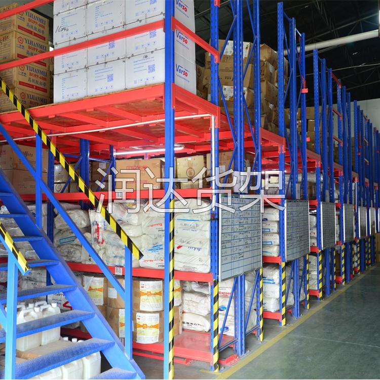 佛山仓库2层阁楼式平台货架,为什么佛山客户都选润达?
