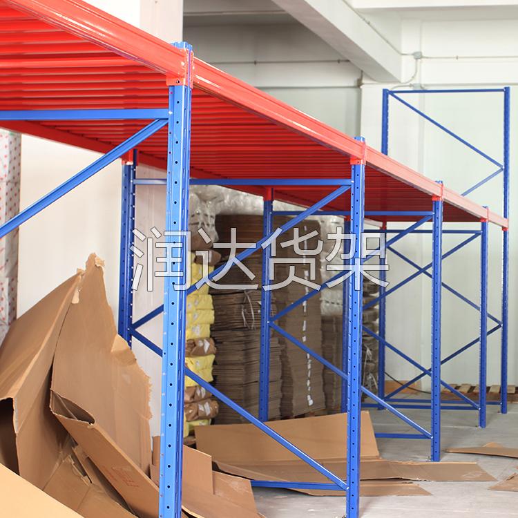 仓储钢搜平台网结构,润达仓储货架厂家